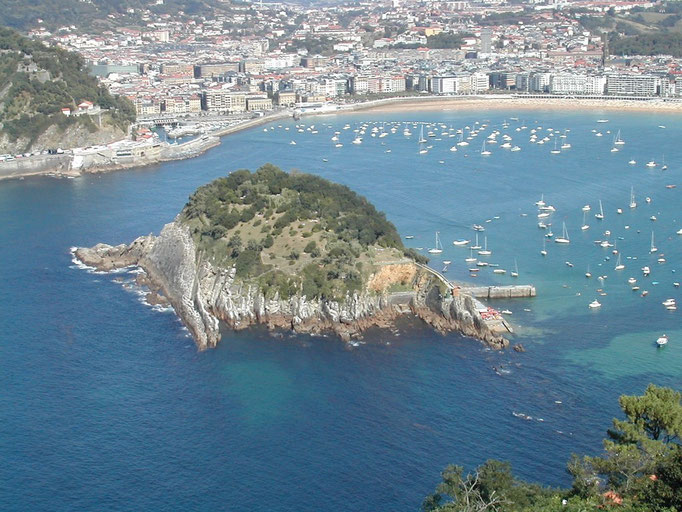 Isla de Santa Clara, San Sebastian, Espagne
