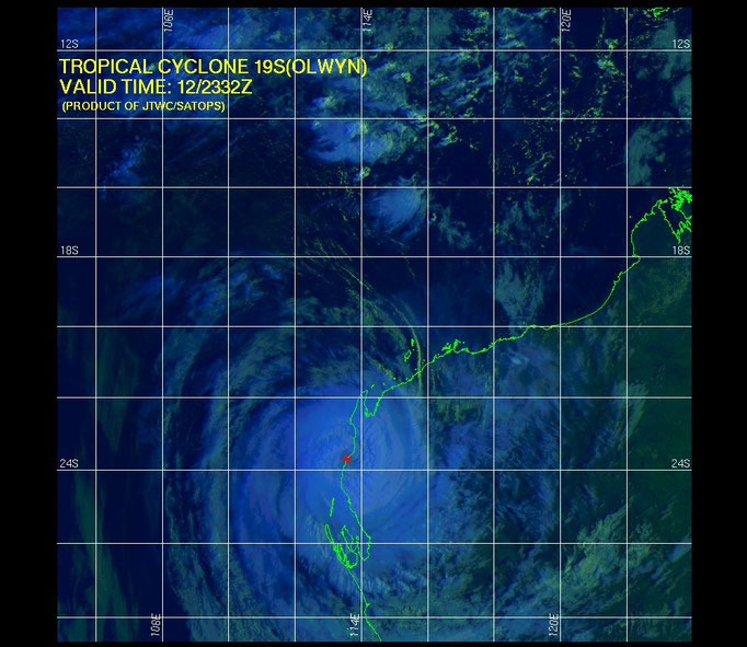 TC Olwyn Satellite image from the JTWC.