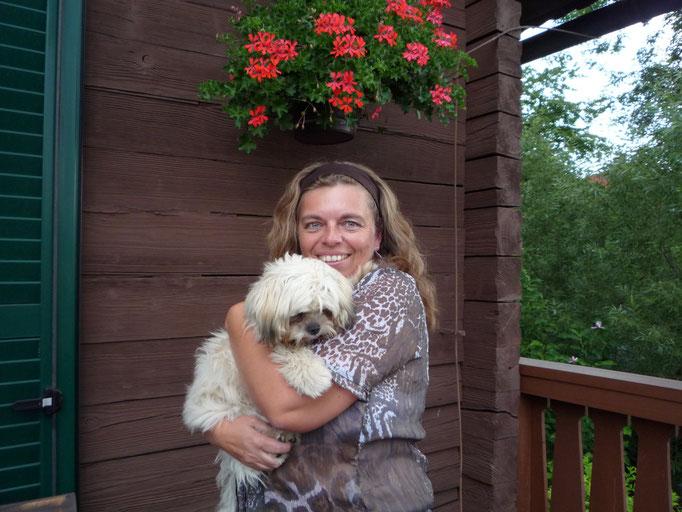 ... super ... meine Hunde-Omi Marion ist zu Besuch ... 7 Mo