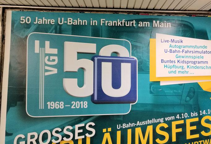 50 Jahre U-Bahn in Frankfurt eingesandt von Claus Rippl / Frankfurt am Main