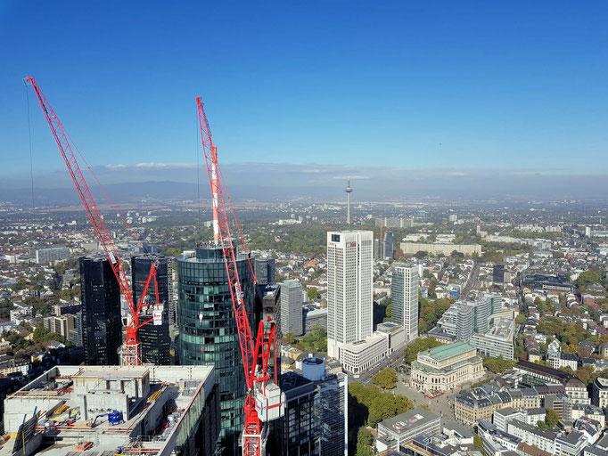 Frankfurt von oben eingesandt von Lu / Frankfurt am Main