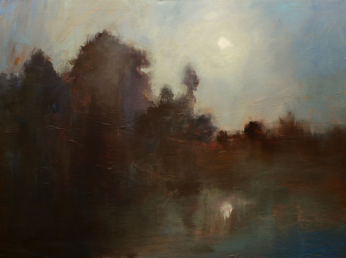 Moonrise Over The James River 40x30