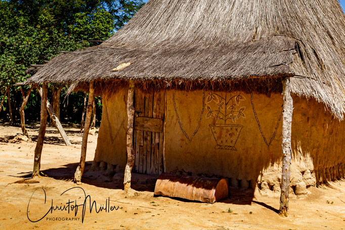 Traditional House with some ethnographic painting.