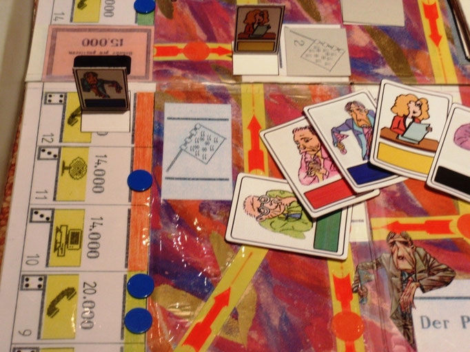 Favoritenkarten und Pot Fahnenkartenfeld am Spielplan