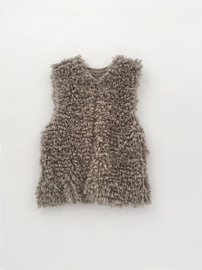 hand knitted fake fur west