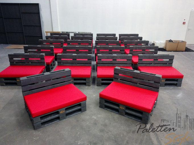 Lulatsch Palettenlounge Zweisitzer für die Media City Atelier GmbH Leipzig