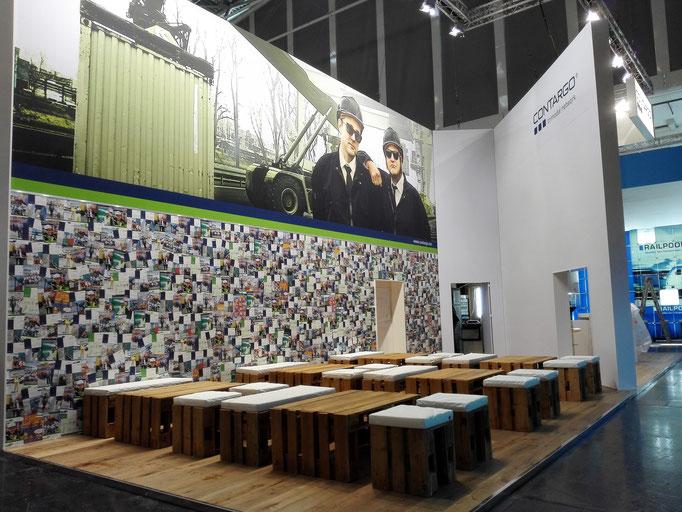 Transportlogistik Messe München Messestand von Contargo