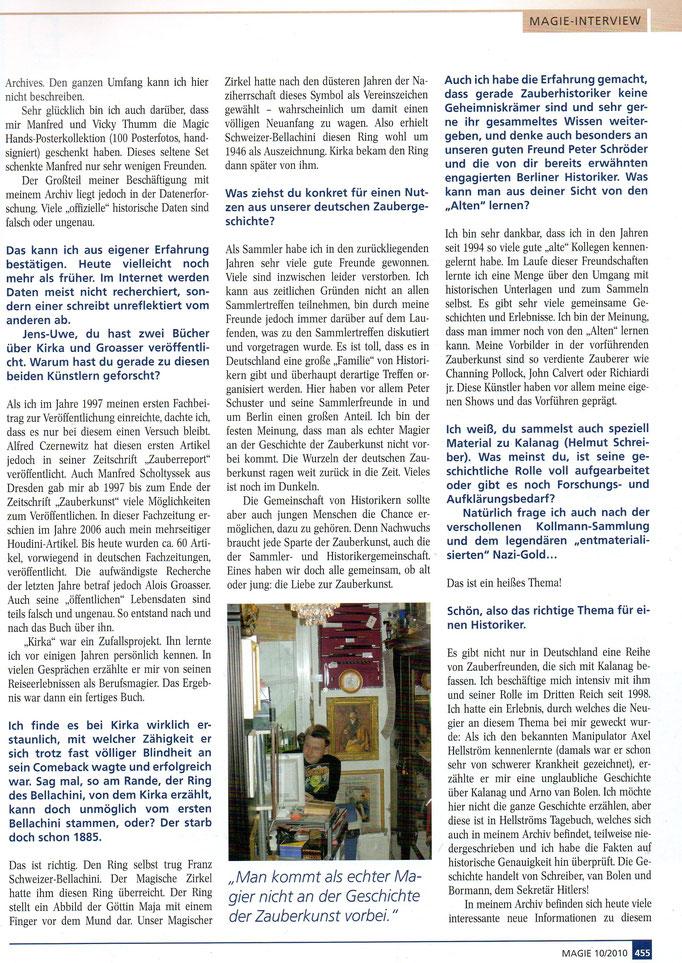 Quelle: Magie (MZvD) Heft 10/ Oktober 2010 Seite 455 - 2