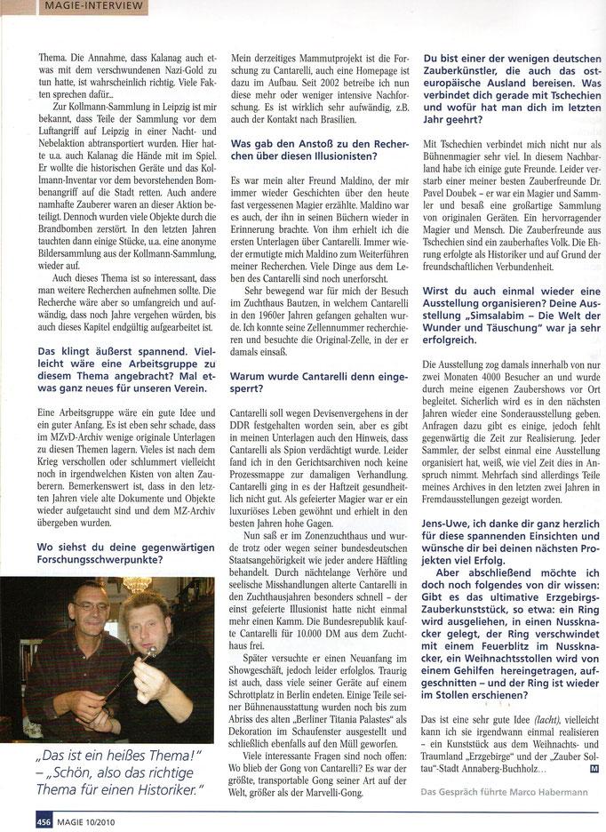 Quelle: Magie (MZvD) Heft 10/ Oktober 2010 Seite 456 - 3