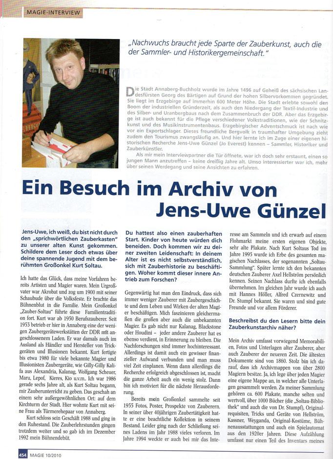 Quelle: Magie (MZvD) Heft 10/ Oktober 2010 Seite 454 - 1