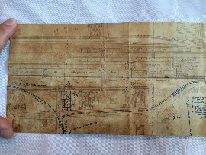Plan de l'ancienne gare des marchandises.