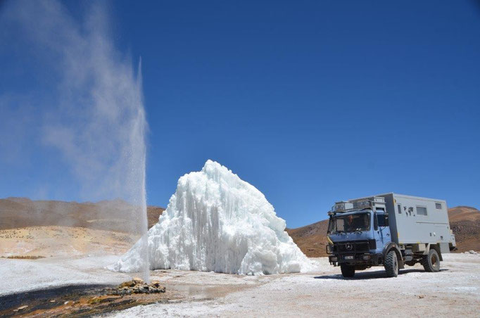 Geysir Puchuldiza in Chile