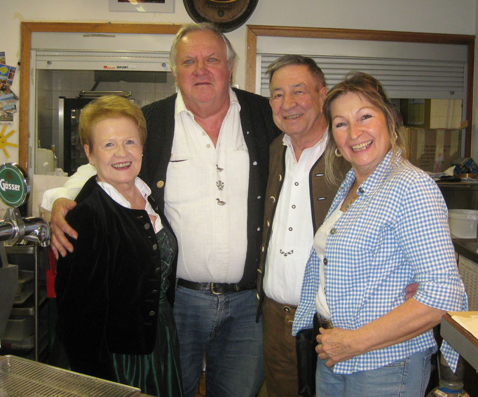 Inge, Herbert, Fredi und Hedy