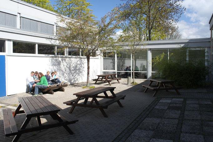 Der Innenhof neben der Mensa, Foto: Tobias Aschenbrenner