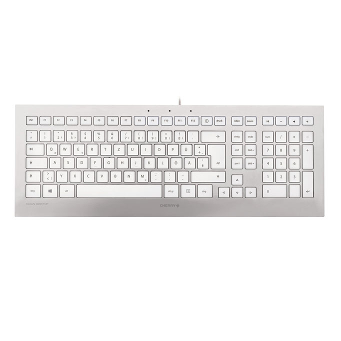 Cherry Strait Corded Keyboard (argentblanc)