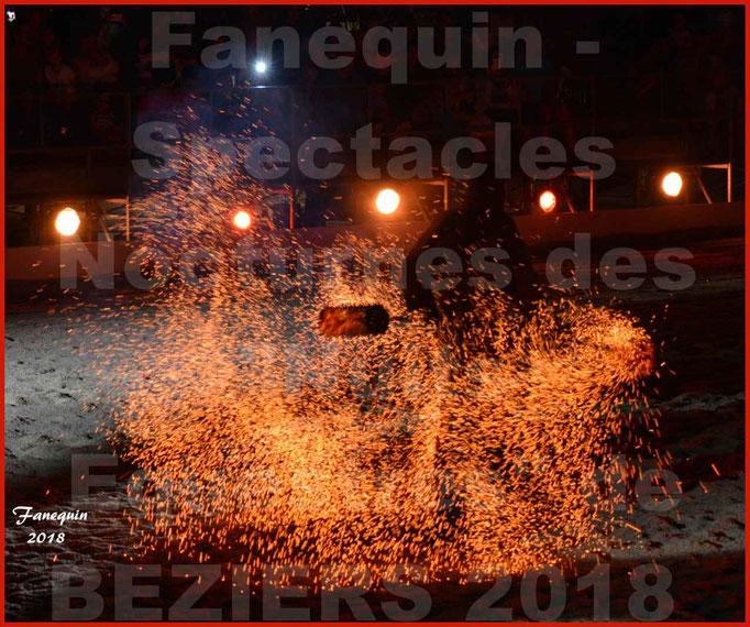 """Spectacles Équestres des """"Nuits Équestres""""  de la Féria de BÉZIERS 2018 - Mercredi 15 Août 2018 - Yann VAILLE - """"Le BRASIER"""" - 33"""