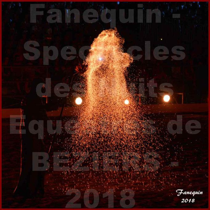 """Spectacles Équestres des """"Nuits Équestres""""  de la Féria de BÉZIERS 2018 - lundi 13 Août 2018 - Yann VAILLE - """"Le BRASIER"""" - 02"""