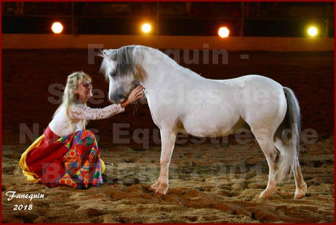 """Spectacles Équestres des """"Nuits Équestres""""  de la Féria de BÉZIERS 2018 - Sylvie WILLMS & ses chevaux en liberté - 15"""