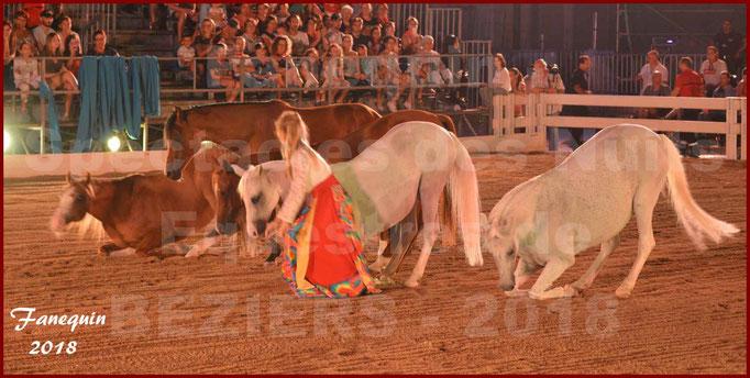 """Spectacles Équestres des """"Nuits Équestres""""  de la Féria de BÉZIERS 2018 - Sylvie WILLMS & ses chevaux en liberté - 01"""