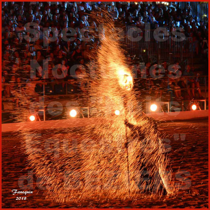 """Spectacles Équestres des """"Nuits Équestres""""  de la Féria de BÉZIERS 2018 - Mercredi 15 Août 2018 - Yann VAILLE - """"Le BRASIER"""" - 02"""