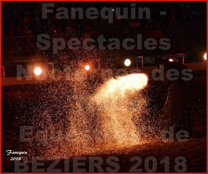 """Spectacles Équestres des """"Nuits Équestres""""  de la Féria de BÉZIERS 2018 - Mercredi 15 Août 2018 - Yann VAILLE - """"Le BRASIER"""" - 16"""