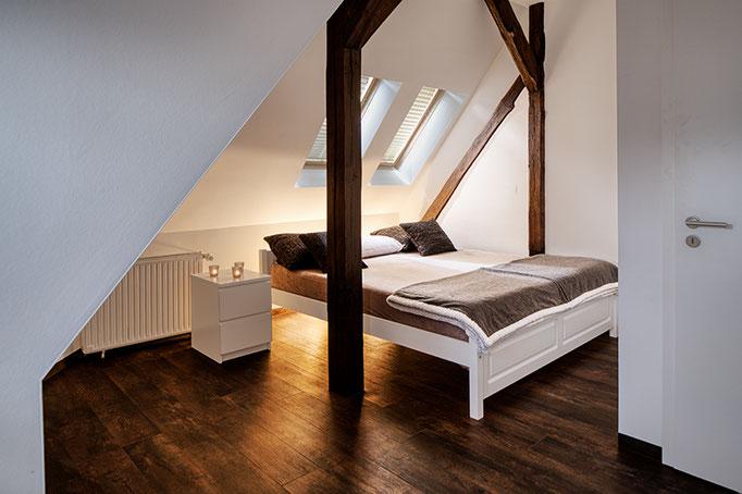Schlafzimmer Ferienwohnungen Architekturfotografie Thüringen