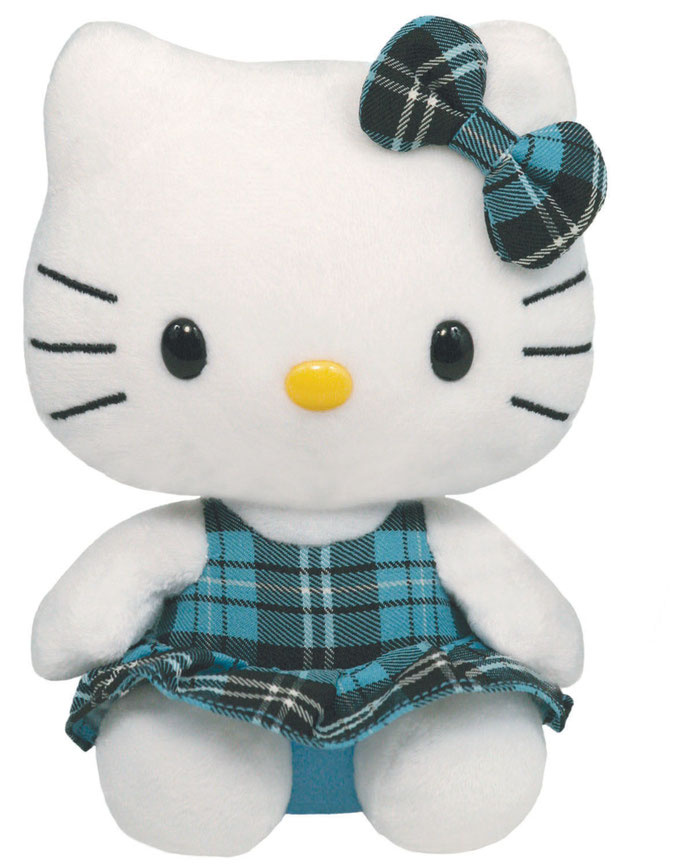 Hello Kitty Schottenrock blau