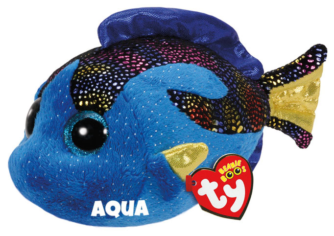 """Aqua is op 18 februari jarig. """"When I'm in the reef, I'm a happy fish / And playing all day is my only wish!"""""""
