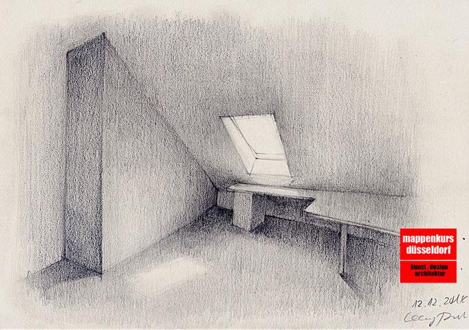 Mappenkurs Architektur, Architekturstudium, Architekturzeichnen