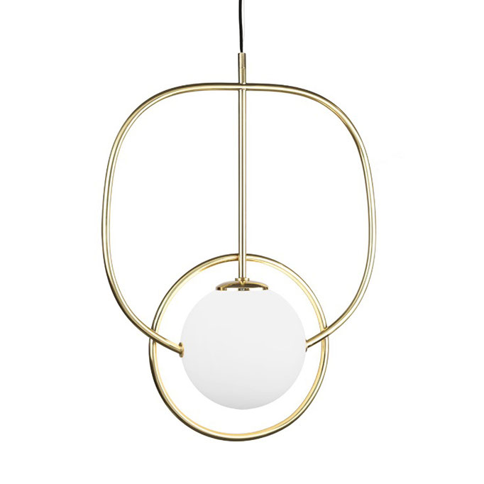 Loop Pendelleuchte gold - UTU lighting