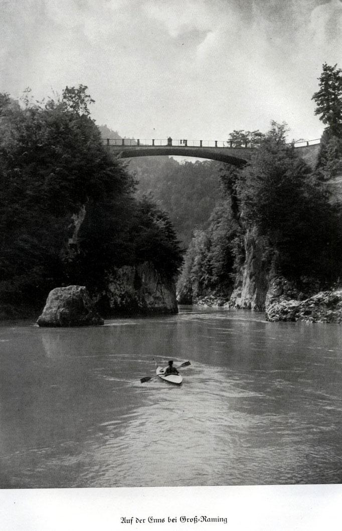 Die Ennsbrücke vor 1950