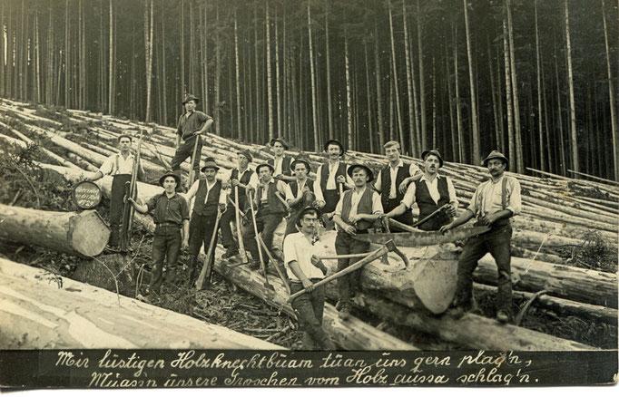 Holzschlägerung anno dazumal