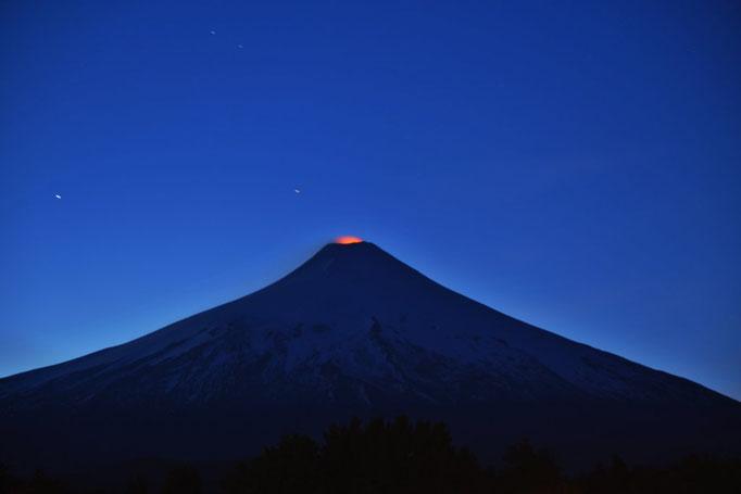 Glühender Vulkan Villarica