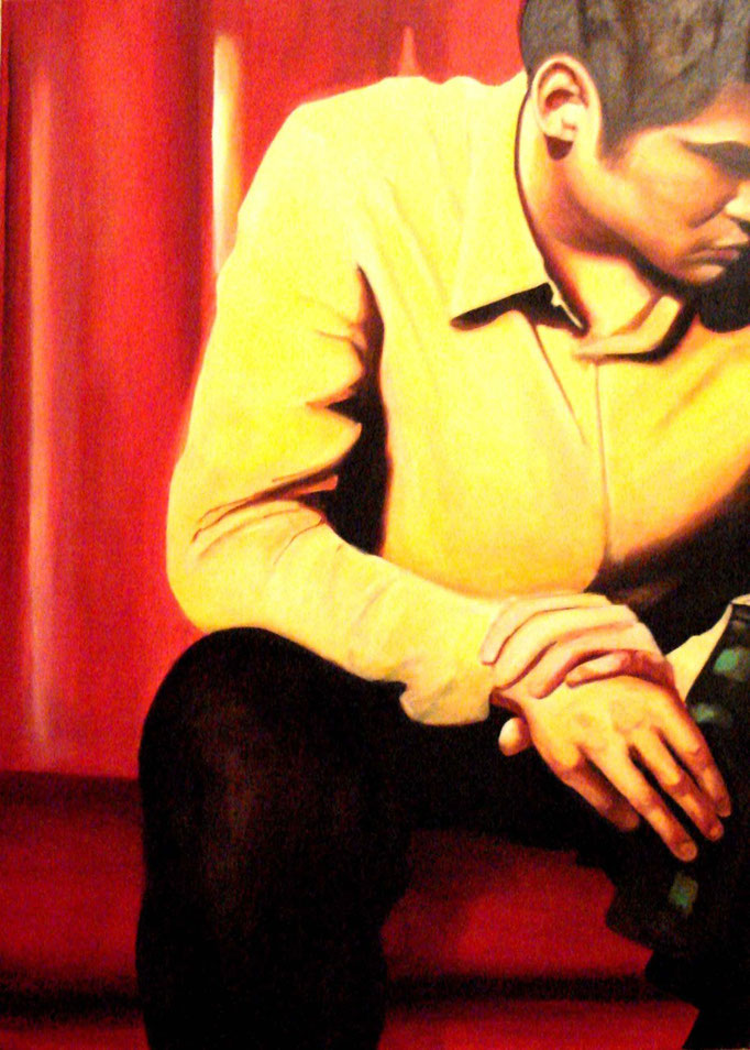 Troubled Boy / 100 x 140 cm / Öl auf Leinwand /