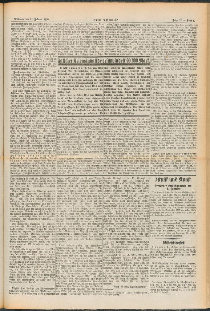 Letzter Teil des Artikels auf der 3. Seite, untere Hälfte. Quelle: https://anno.onb.ac.at/cgi-content/anno?aid=fst&datum=19360211&zoom=33