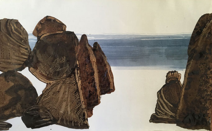 Roi assis, 28,5 x 44,5 cm, 2020