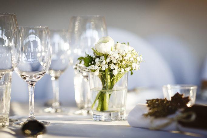 Dekoration-Hochzeitstisch
