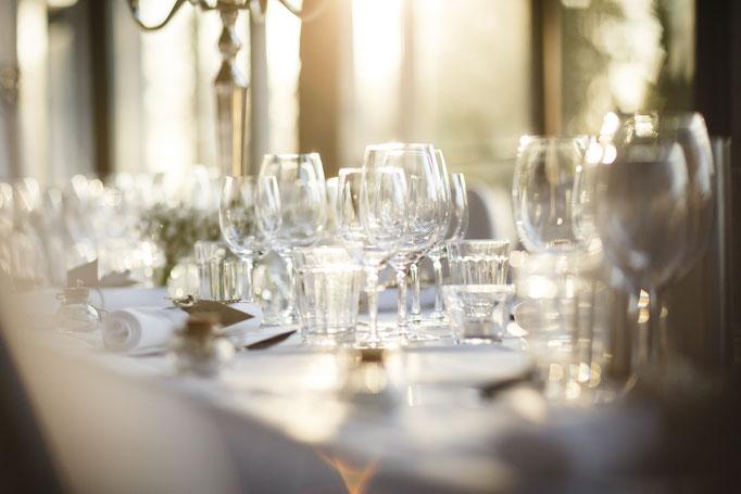 Tischdekoratio-Hochzeit