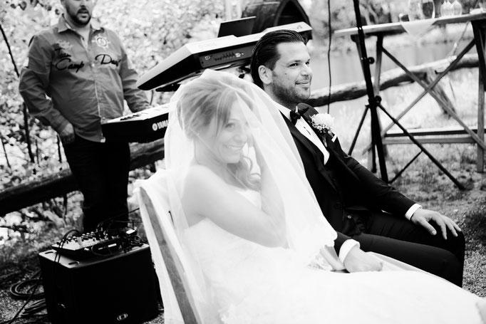 Brautpaar-schwarzweiss