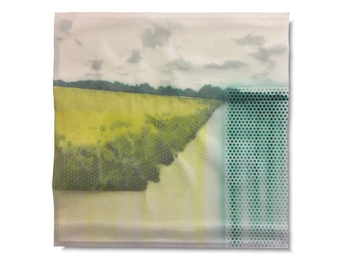 Auvers Sur Oise - 50 cm x 50 cm - Varnisch, indian Ink, pencil, resin transparent on paper