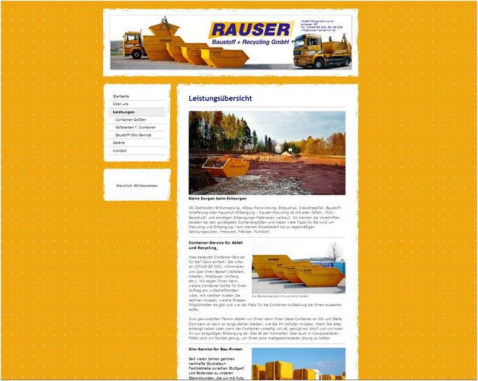 Website für www.rauser-container.de (mit jimdo erstellt)