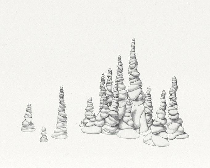 Monticules de plâtre