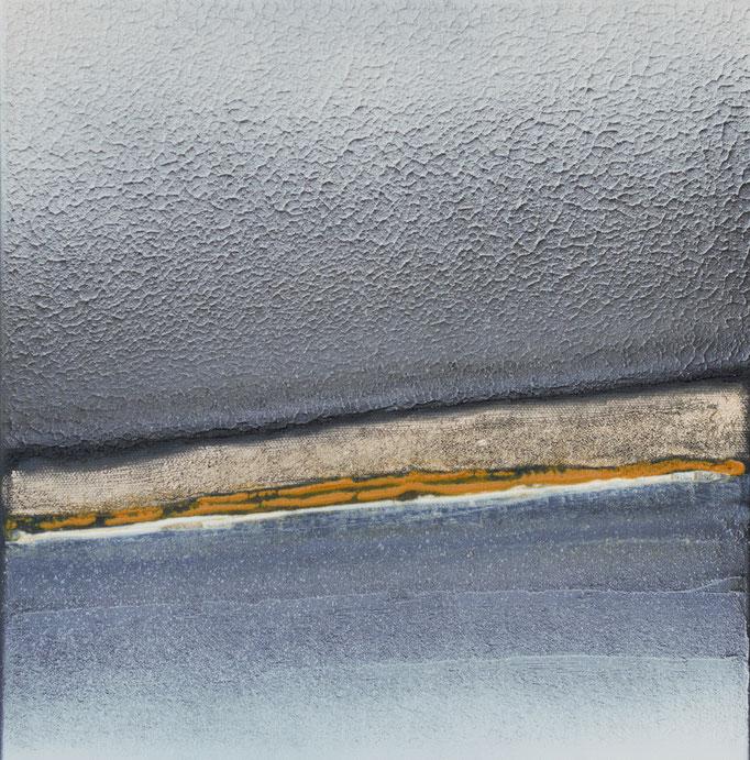 No. 140 Mischtechnik Acryl auf Leinwand 30x30x4 cm (2018)