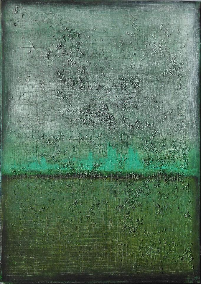 No. 74 - Mischtechnik Acryl auf Leinwand 50x70 cm (2016) - verkauft -
