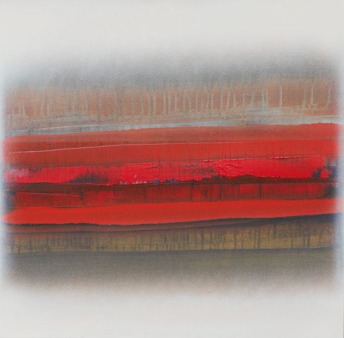 No. 132 Mischtechnik Acryl auf Leinwand 80x60x4 cm (2018)