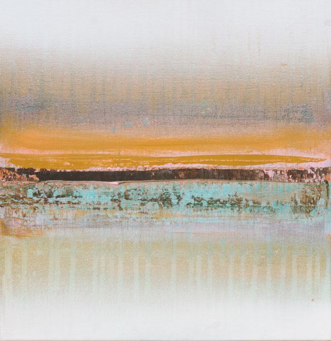 No. 142 Mischtechnik Acryl auf Leinwand 30x30x4 cm (2018)