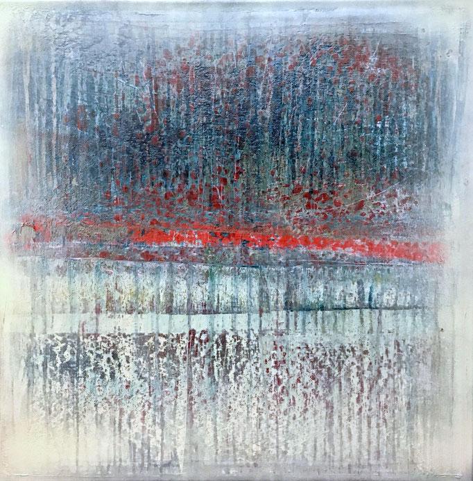No. 160 Mischtechnik Acryl auf Leinwand 70x70x4 cm (2019)
