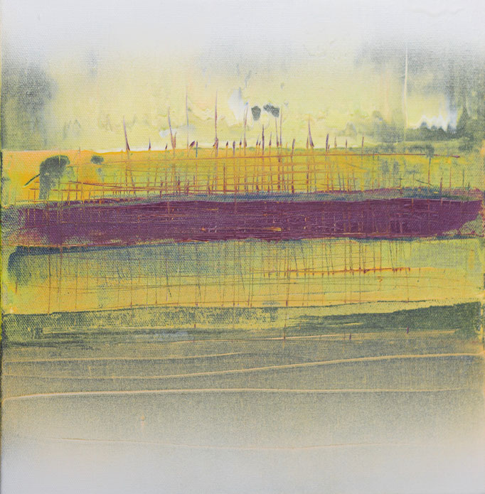 No. 137 Mischtechnik Acryl auf Leinwand 30x30x4 cm (2018)