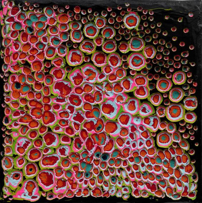 Mini No. 4 - Mischtechnik Acryl auf Leinwand 15x15 cm (2015) - verkauft -