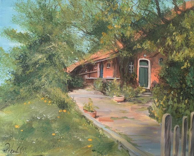 Bauernhaus in Ostfriesland 30x24 cm